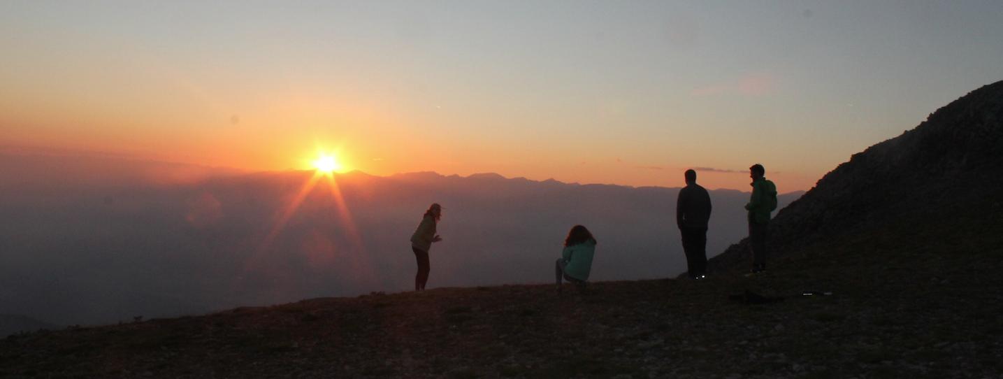 Posta de sol al Niu de l'Àliga, La Molina